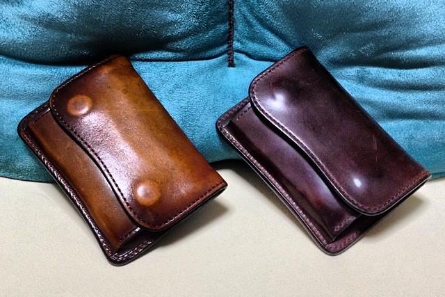 コードバン財布の【エイジング】【育て方】